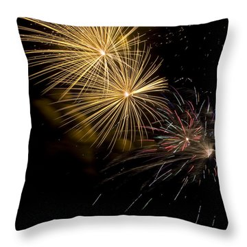 Fireworks 20 Throw Pillow by Sandy Swanson