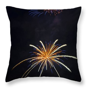 Fireworks 3 The Spaceship Throw Pillow by Dianne Phelps