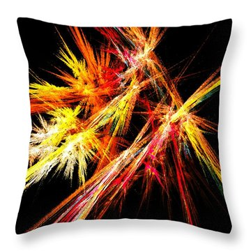 Fireworks Throw Pillow by Anastasiya Malakhova