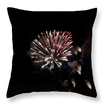 Fireworks At Night Throw Pillow