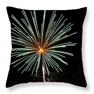 Fireworks Bursts Colors And Shapes 2 Throw Pillow by SC Heffner