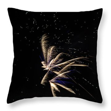 Fireworks - Dragonflies In The Stars Throw Pillow