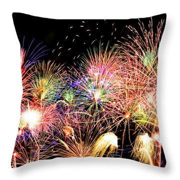 Fireworks Finale Throw Pillow