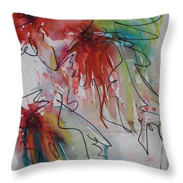 Fireworks Throw Pillow by Nancy Gebhardt