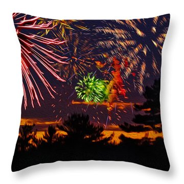 Fireworks No.1 Throw Pillow