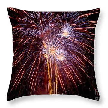 Fireworks Throw Pillow by Philip Pound