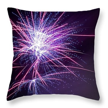 Fireworks - Purple Haze Throw Pillow