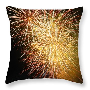 Throw Pillow featuring the photograph Fireworks by Ramona Johnston
