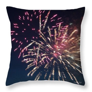 Fireworks Series Xiii Throw Pillow by Suzanne Gaff