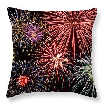 Fireworks Spectacular IIi Throw Pillow