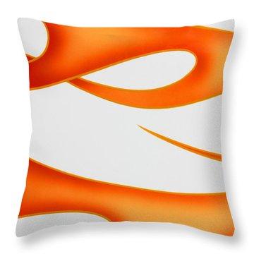 Throw Pillow featuring the photograph Firey Orange by Joe Kozlowski