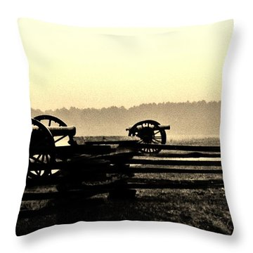 Firing Line Throw Pillow