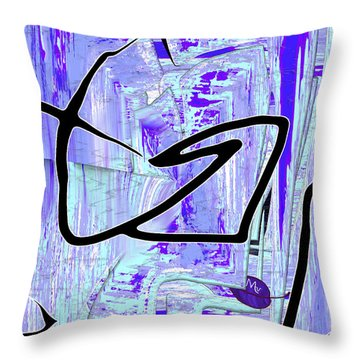 Firmament Cracked #2 - Paper Sky Throw Pillow by Mathilde Vhargon