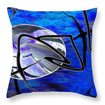 Firmament Cracked #6 - Veneers Throw Pillow by Mathilde Vhargon