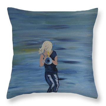 Firmly Grounded - Cindy Bradley Throw Pillow