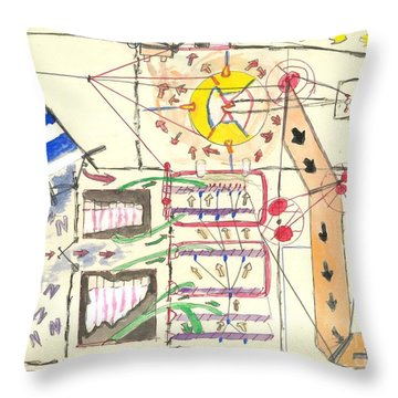 First Abstract Throw Pillow