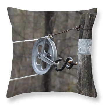 First Automatic Dryer Throw Pillow