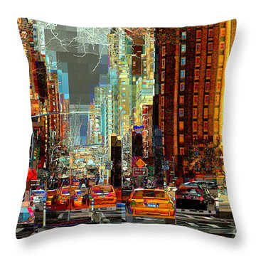 First Avenue - New York Ny Throw Pillow