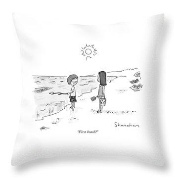 First Beach? Throw Pillow