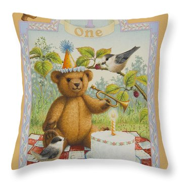 First Birthday Throw Pillow