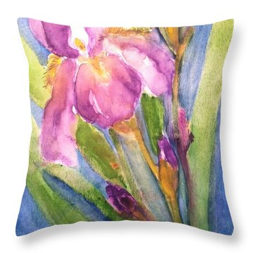 First Bloom Throw Pillow by Sherry Harradence