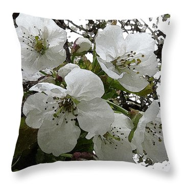 Throw Pillow featuring the photograph First Blossoms by I'ina Van Lawick