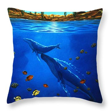 First Breath Throw Pillow by Lance Headlee