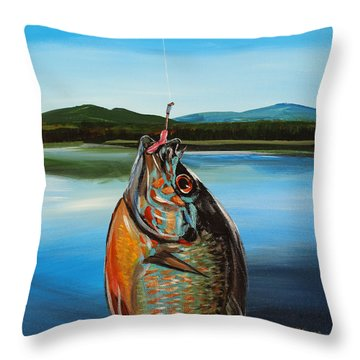First Catch Throw Pillow