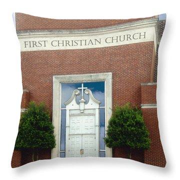 First Christian Church Throw Pillow
