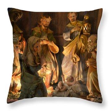 First Christmas Throw Pillow by Doug Kreuger