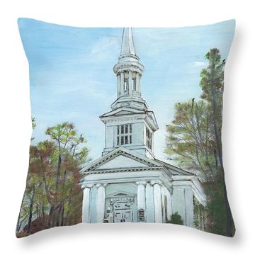 First Church Sandwich Ma Throw Pillow