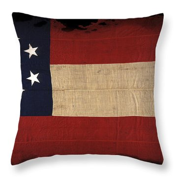 First Confederate Flag Throw Pillow