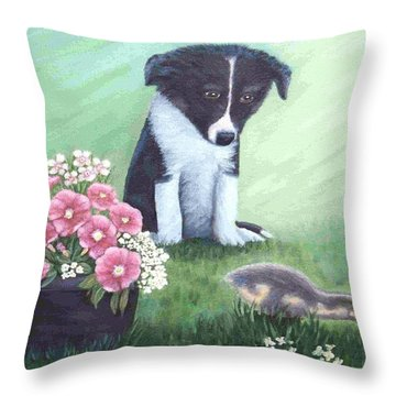 First Encounter Throw Pillow