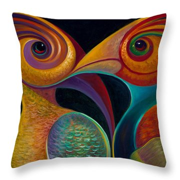 First Flight 1 Throw Pillow by Claudia Goodell
