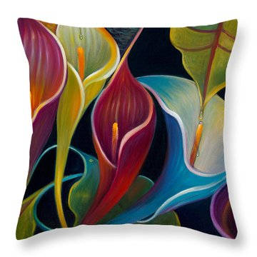 First Flight 2 Throw Pillow by Claudia Goodell