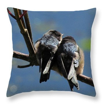 Throw Pillow featuring the photograph First Flight by I'ina Van Lawick