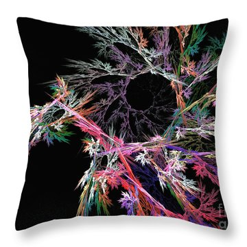 First Flower - Abstract Art Throw Pillow