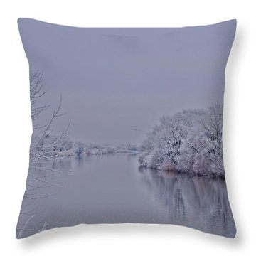 Throw Pillow featuring the photograph First Frost by Lynn Hopwood
