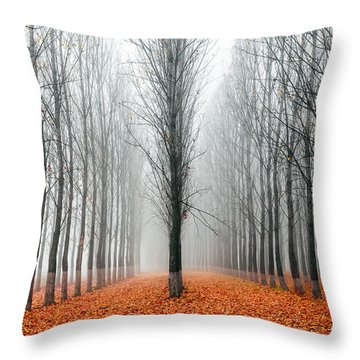 First In The Line Throw Pillow