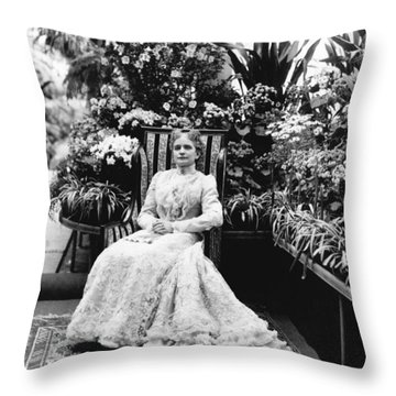 First Lady Ida Mckinley Throw Pillow by Underwood Archives