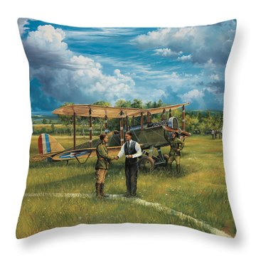 First Landing At Shepherd's Field Throw Pillow by Randy Green