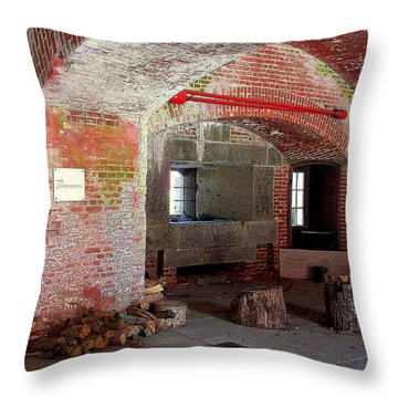 First Level Casemates Throw Pillow by Pamela Hyde Wilson