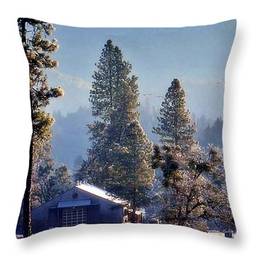 Throw Pillow featuring the photograph First Light by Julia Hassett