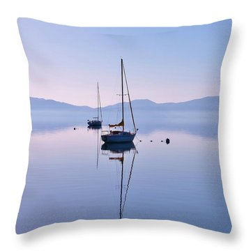 First Light Lake Tahoe  Throw Pillow