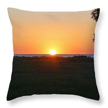 Throw Pillow featuring the photograph First Light by Patrick Shupert