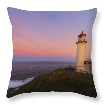 First Light Throw Pillow by Ryan Manuel