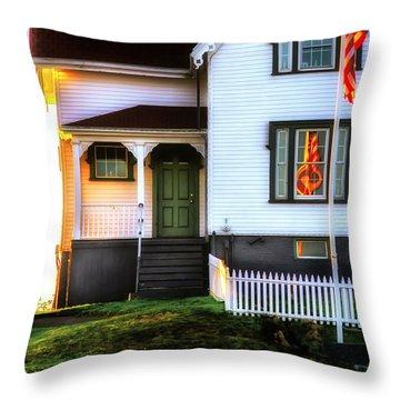 First Light Throw Pillow by Scott Thorp
