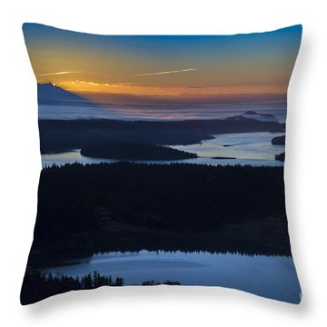 First Light Throw Pillow by Sonya Lang