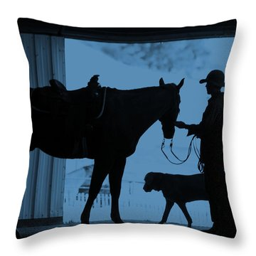 First Light Throw Pillow by Steven Bateson