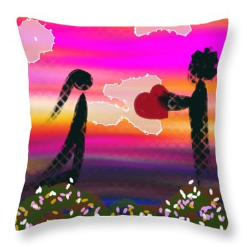 First Love Throw Pillow by Lady Ex